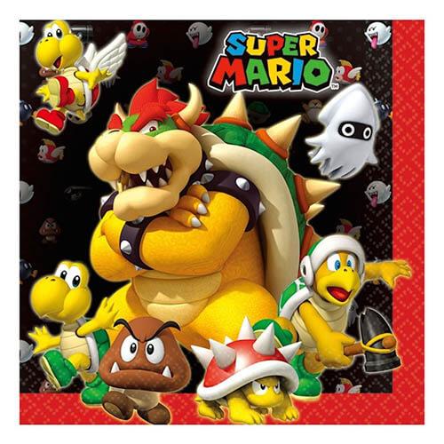 Tovaglioli Super Mario Bros 20 pezzi