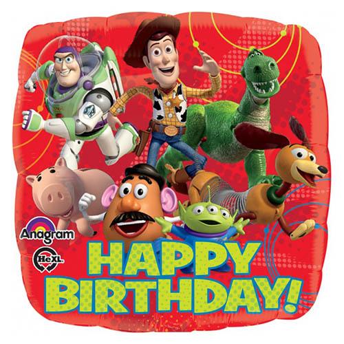 Palloncino Toy Story scritta Happy BDay 45 cm 1 pezzo