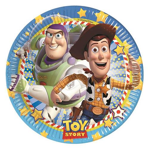 Piatti Toy Story grandi 8 pezzi
