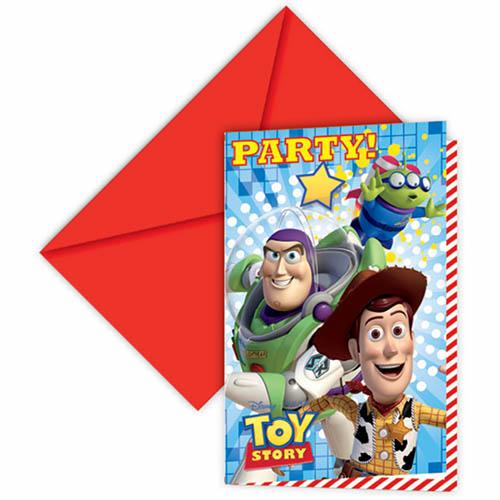 Inviti festa Toy Story con buste 6 pezzi
