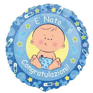 Palloncino Nascita lui congratulazioni 45 cm 1 pezzo