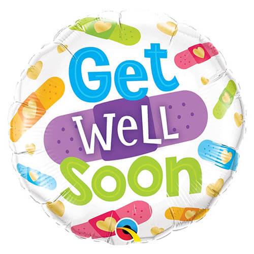 Palloncino auguri pronta guarigione scritta Get Well Soon 45 cm 1 pezzo