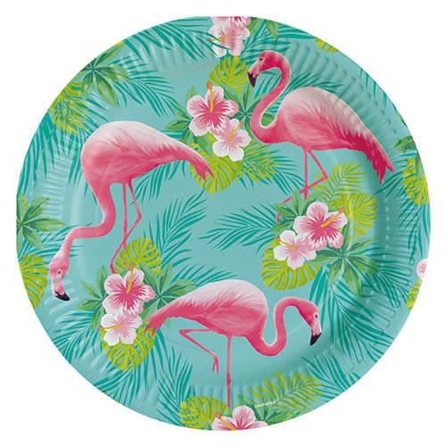 Piatti Flamingo grandi 8 pezzi
