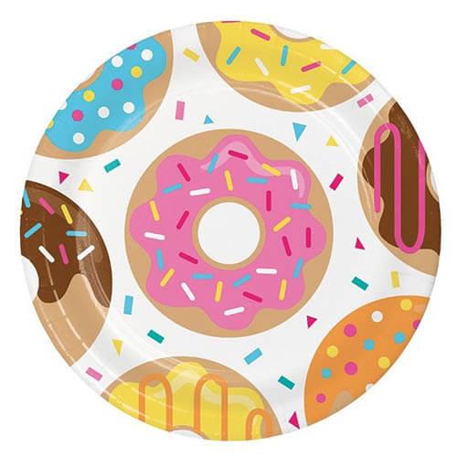 Piatti Donuts grandi 8 pezzi