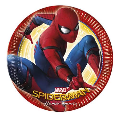 Piatti Spider-Man grandi 8 pezzi
