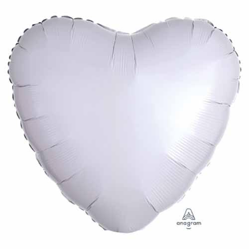 Palloncino cuore bianco 43 cm 1 pezzo