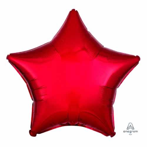 Palloncino stella rosso 48 cm 1 pezzo