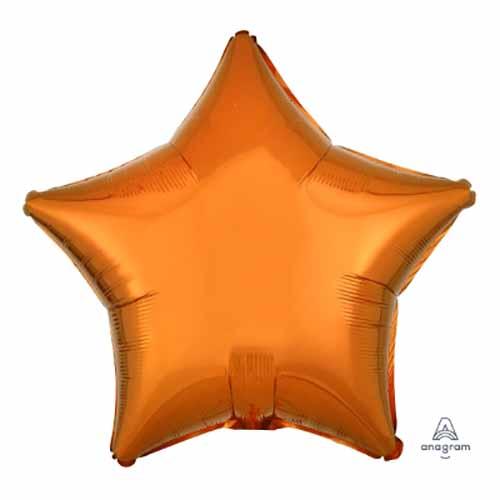 Palloncino stella arancione 48 cm 1 pezzo
