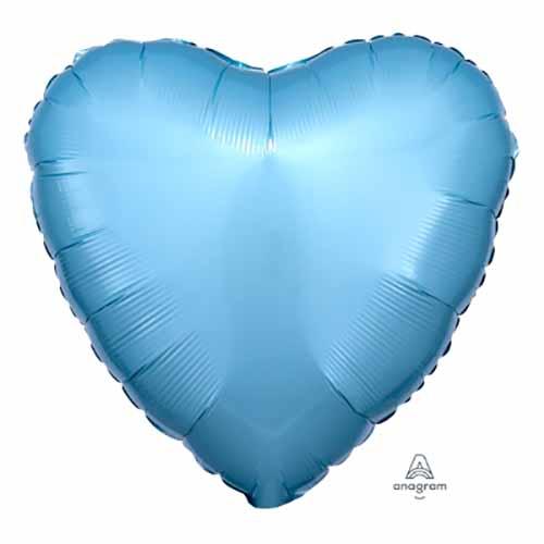 Palloncino cuore celeste pastello 43 cm 1 pezzo