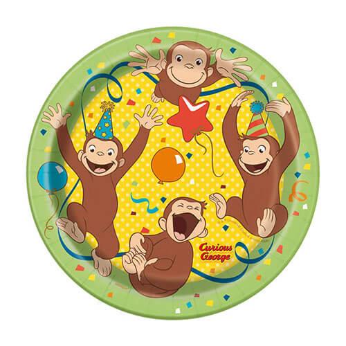 Piatti Curioso come George party time piccoli 8 pezzi