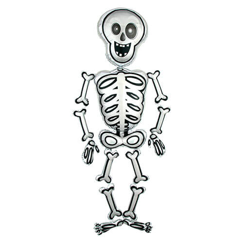 Palloncino Mr Skelly scheletro mascotte AirWalkers 1 pezzo