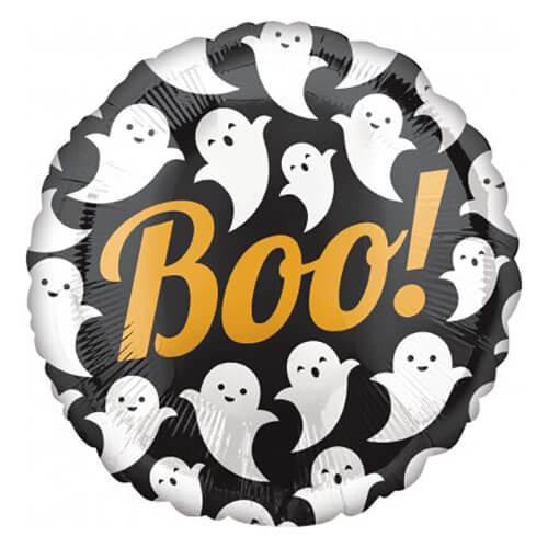 Palloncino fantasmi con scritta Boo 45 cm 1 pezzo