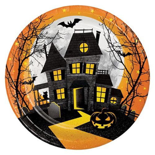 Piatti casa dei fantasmi grandi 8 pezzi
