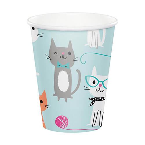 Bicchieri Gatto Miao Miao 8 pezzi