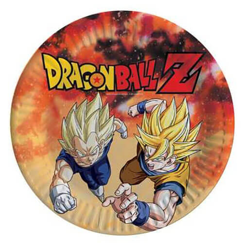 Piatti Dragon Ball Z grandi 8 pezzi