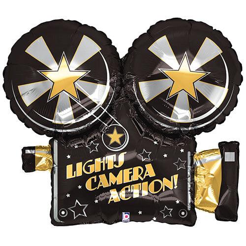 Palloncino telecamera Hollywood scritta camera action UltraShape 1 pezzo