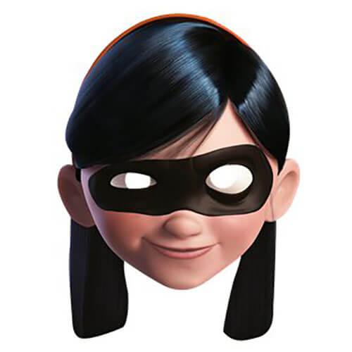 Maschera Violetta de Gli Incredibili 1 pezzo
