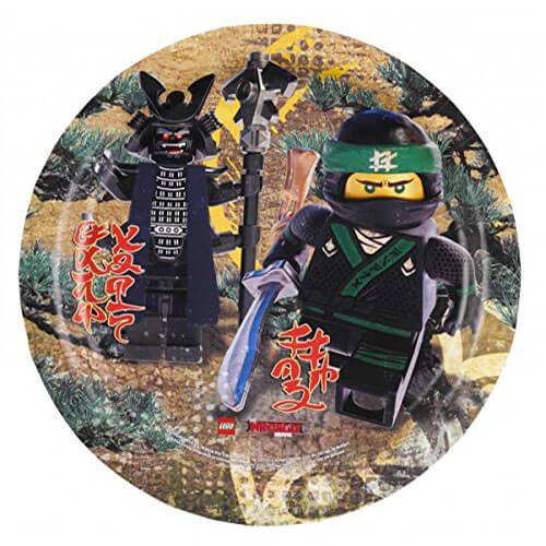Piatti Lego Ninjago rotondi grandi 8 pezzi