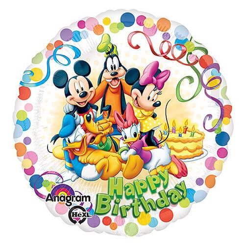 Palloncino Topolino e Amici Disney scritta Happy Birthday 45 cm 1 pezzo