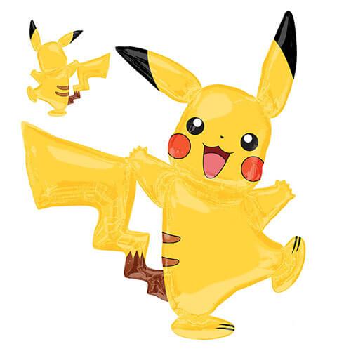 Palloncino Pikachu Pokemon mascotte AirWalkers 1 pezzo