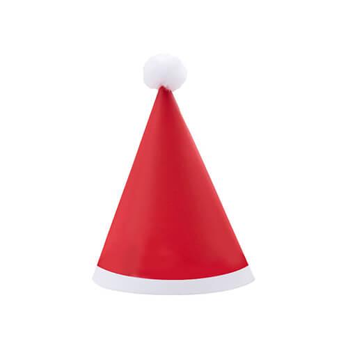 Cappellini pom pom Babbo Natale mini 8 pezzi