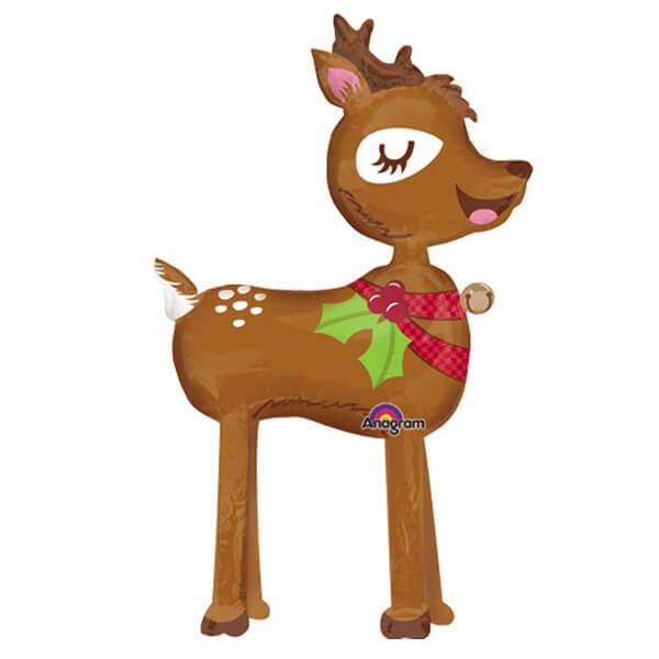 Palloncino renna Natale mascotte AirWalkers 1 pezzo