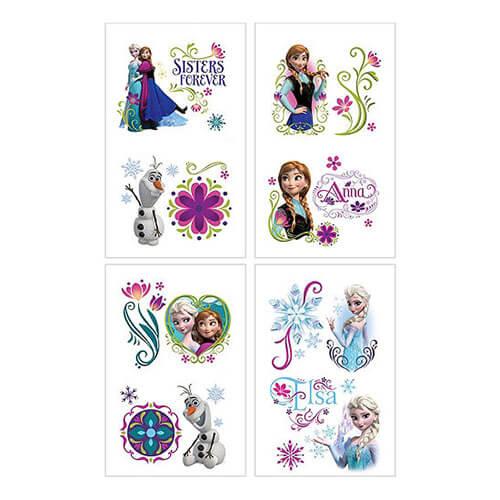 Tattoo Frozen Disney 8 pezzi