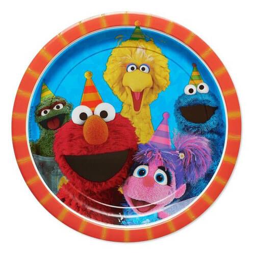 Piatti Sesame Street grandi 8 pezzi