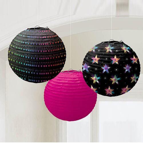 Lanterne globo Fluo 3 pezzi