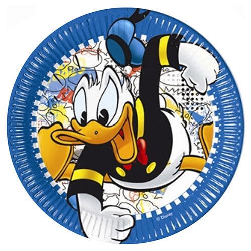 Piatti Paperino Disney grandi 8 pezzi
