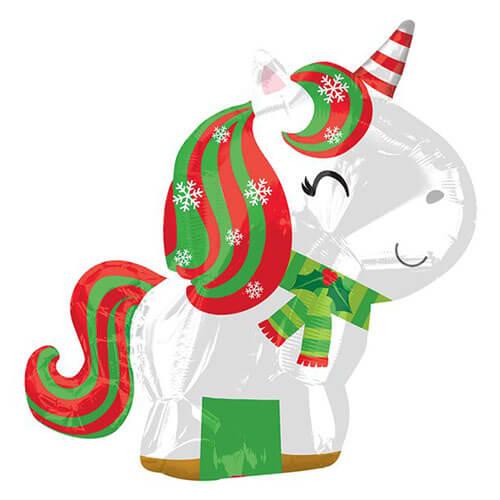 Palloncino Unicorno natalizio 43 x 53 cm 1 pezzo