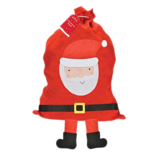 Busta a sacco grande Babbo Natale per regali festa 1 pezzo