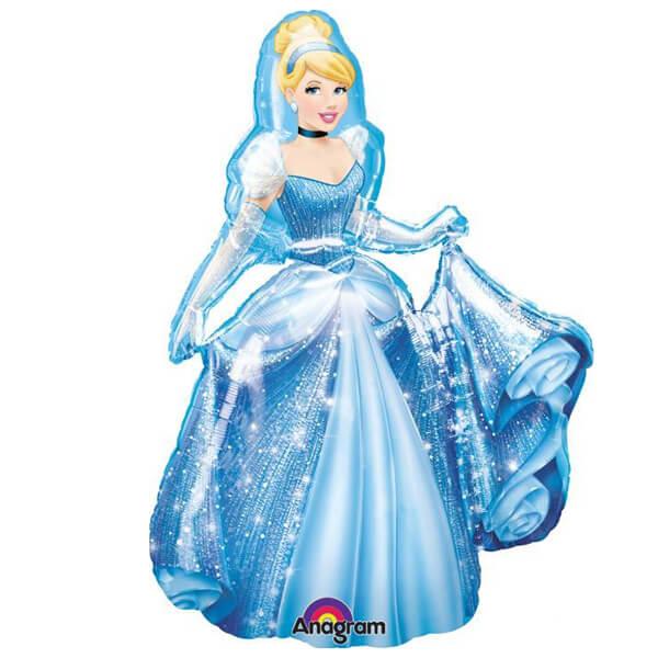 Palloncino Cenerentola Principessa Disney mascotte AirWalkers 1 pezzo