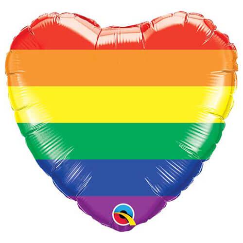 Palloncino cuore arcobaleno 45 cm 1 pezzo