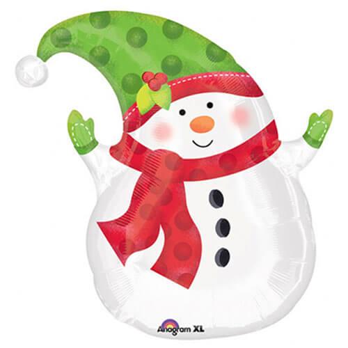 Palloncino pupazzo di neve Natale JuniorShape 1 pezzo