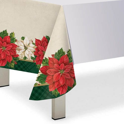 Tovaglia Poinsettia stella di Natale 1 pezzo