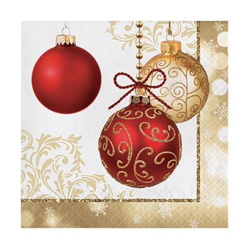 Tovaglioli ornamenti di Natale 16 pezzi