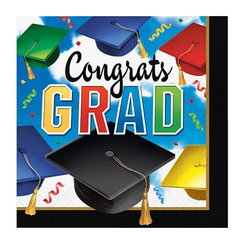 Tovaglioli laurea scritta Congrats GRAD 16 pezzi