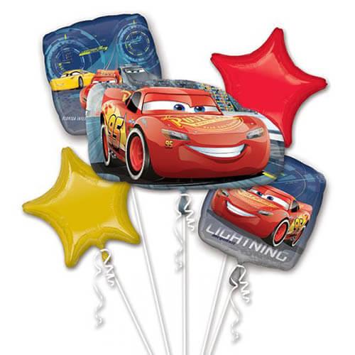 Bouquet palloncini Cars Disney 5 pezzi