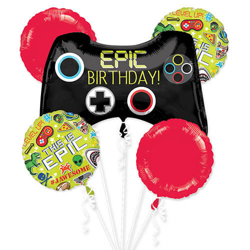 Bouquet palloncini Epic Games 5 pezzi