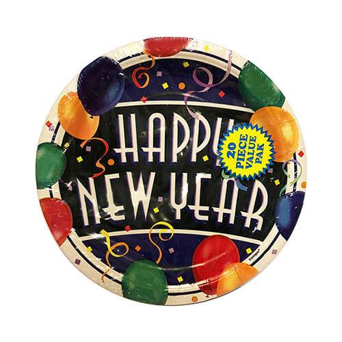 Piatti Capodanno scritta Happy New Year piccoli 20 pezzi