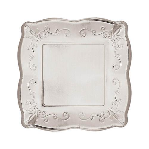 Piatti Elegance argento piccoli 8 pezzi