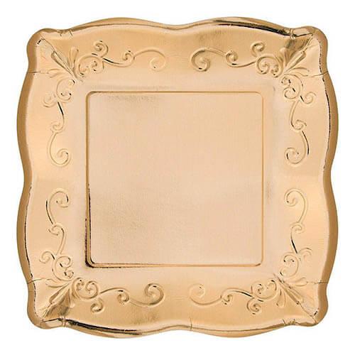 Piatti Elegance oro grandi 8 pezzi