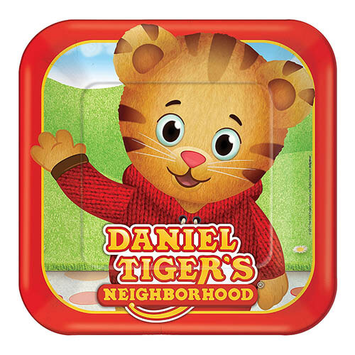 Piatti Daniel Tigers Neighborhood grandi 8 pezzi