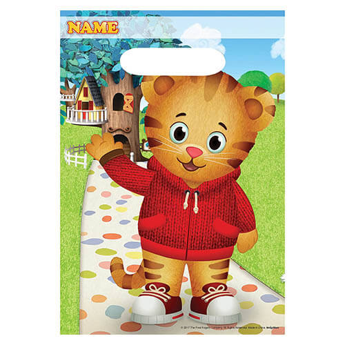 Bustine Daniel Tigers Neighborhood per regali fine festa 8 pezzi
