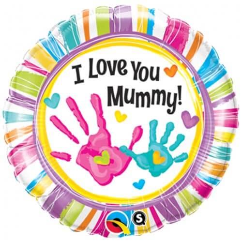 Palloncino festa della mamma scritta I Love you Mummy 45 cm 1 pezzo