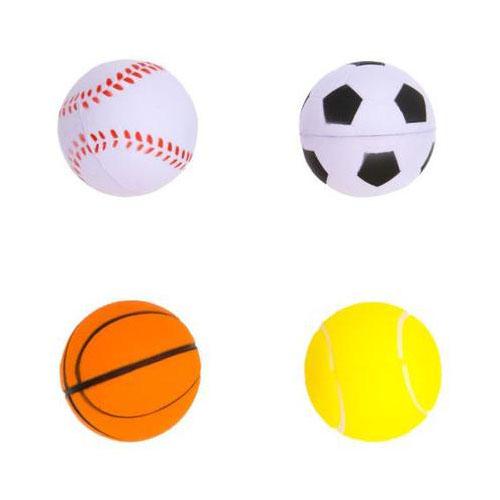 Palline sport assortite 4 pezzi