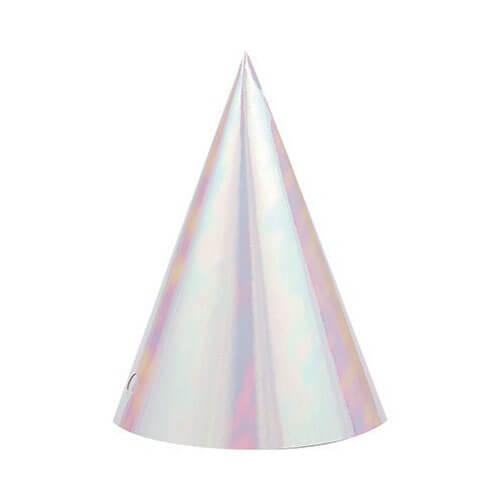 Cappellini cono Iridescente 8 pezzi