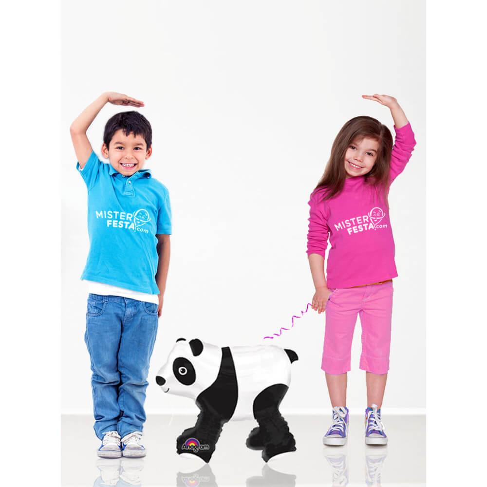 Palloncino Panda al guinzaglio mascotte AirWalkers 1 pezzo