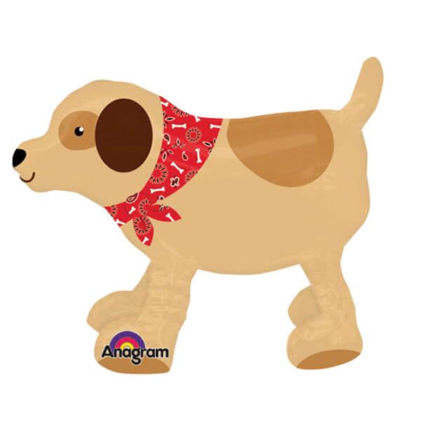 Palloncino Labrador cagnolino al guinzaglio AirWalkers 1 pezzo